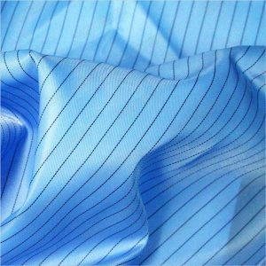 Vải dệt thoi chống tĩnh điện polyester sọc chéo 5mm cho hàng may mặc chống tĩnh điện