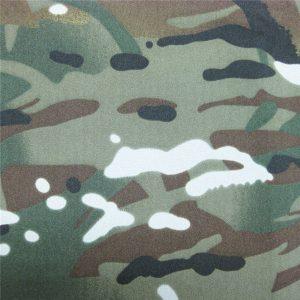 teflon 100% polyester dệt chống thấm ngoài trời ngụy trang quân sự mưa áo khoác vải