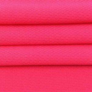 nhanh chóng khô polyester chim mắt lưới vải cho thể thao t áo sơ mi